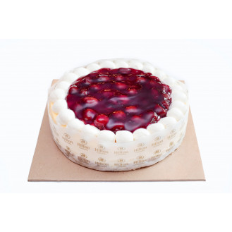 Cheesecake with Strawberry Pie Filling
