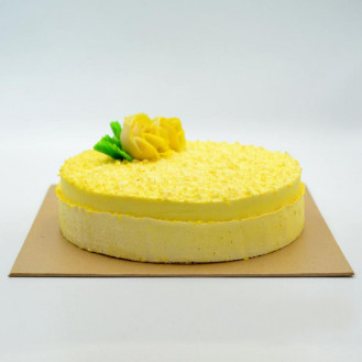 Butter Icing Covered Ribbon Cake (1kg)