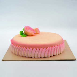 Marzipan Covered Ribbon Cake (1kg)