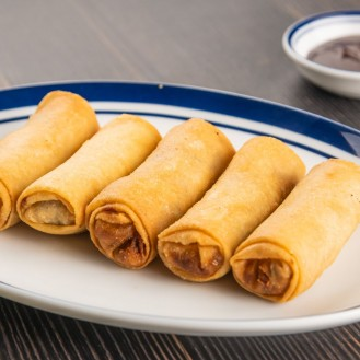 Deep-Fried Chicken And Prawn Spring Roll (5Pcs)