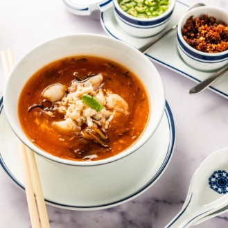 Hot And Sour Soup With Crab Meat