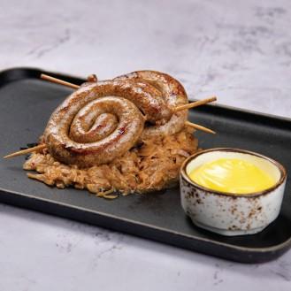 Thuringer Rosbratwurst (Grilled Thuringian Pork Sausage)