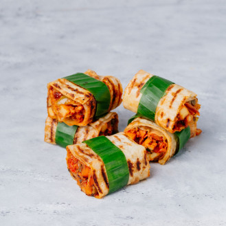 Indian Paneer Wrap with Salad,Vegetable & Curd (5 Pcs)